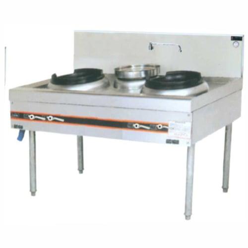 Getra Cs-1480 Gas kwali range low pressure/kompor gas 2 burner + soup ring