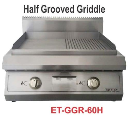 Getra ET-GGR-60H Gas half grooved griddle/mesin pemanggang steak,otak-otak,dll