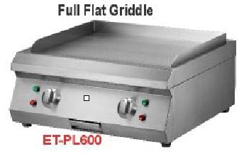 Getra ET-PL600 Counter top electric griddle/pemanggang full flat griddle electric/pemanggang electric