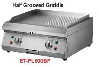 Getra ET-PL600BP Electric half grooved griddle/mesin pemanggang elektrik