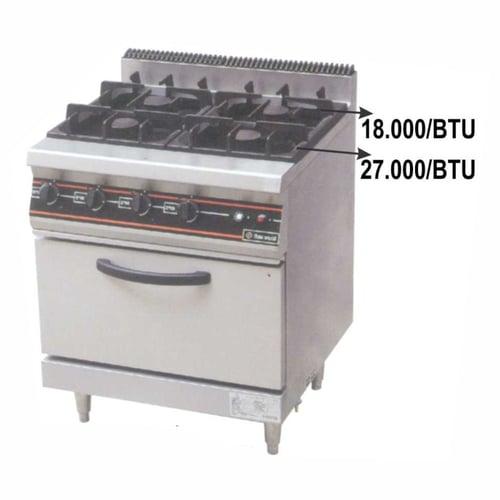 Getra RBJ-4 Gas open burner/kompor gas 4 tungku + oven