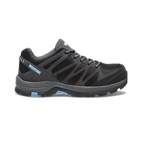 WOLVERINE Safety Shoes Women's Fletcher NT Low CarbonMax Waterproof Hiking Shoe Grey/Blue W10580