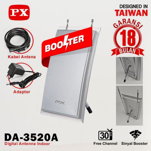 Antena TV Indoor PX DA-3520N Digital TV DVB-T2 Garansi 18 bulan