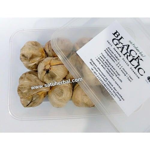 satuherbal Black Garlic ( Bawang Hitam ) Premium Dari Bawang Putih Biasa 200 gram