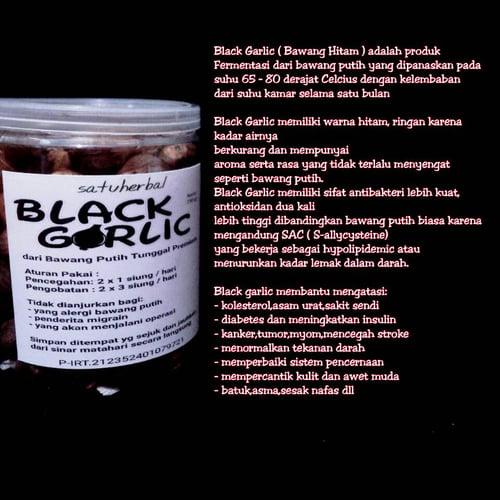 satuherbal Black Garlic Bawang Hitam dari Bawang Lanang ( Tunggal ) 250 Gram