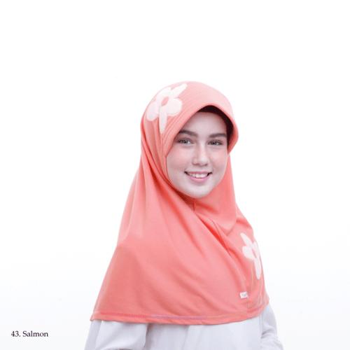 Jilbab anak Vania motif bunga ASLI original size M 8-13 th