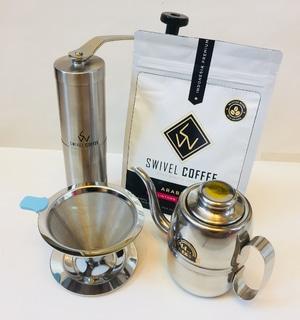 PAKET Coffee Grinder Stainless Gooseneck Kopi Lintong 200gr