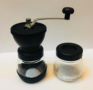 Manual Coffee Grinder Glass Black 1Set 100gr
