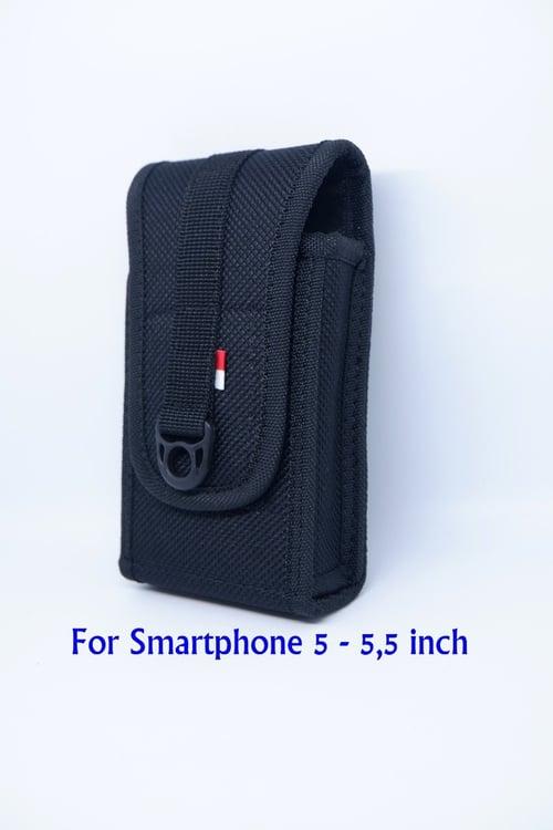 Sarung HP Pinggang Kanvas Single Slot Max 5.5 Inch