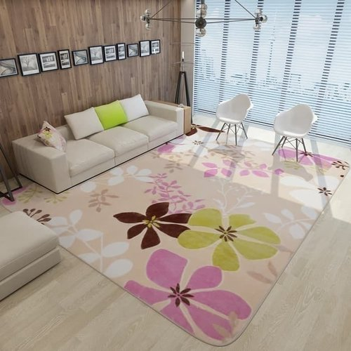 Karpet bunga lovely bermain anak empuk lembut 190 x 240 cm