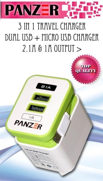 panzer Travel Charger 3in1