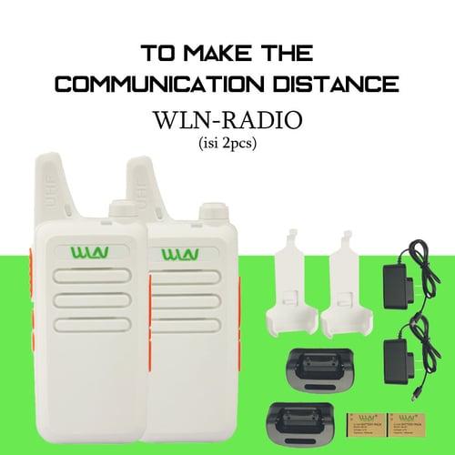 PANZER Walkie Talkie WLN HT Two-Way Radio Putih (ISI 2 PCS)