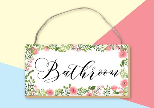Vingy Home Decor Watercolor Floral -  Bathroom Wall Decor