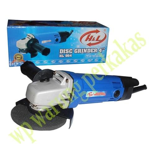 """H&L Disc Grinder HL-954 Mesin Gerinda Tangan 4"""" -  Biru"""