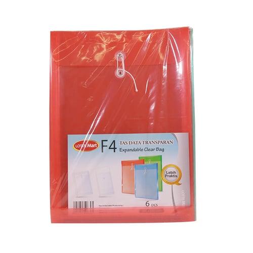 LOTTE MART Expandable Clear Bag Warna 6pcs