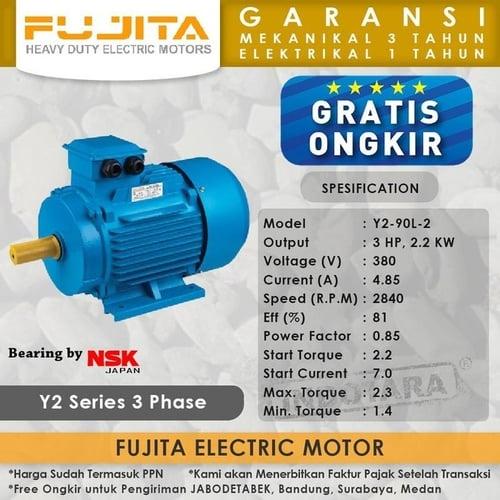 Fujita Electric Motor 3 Phase Y2-90L-2