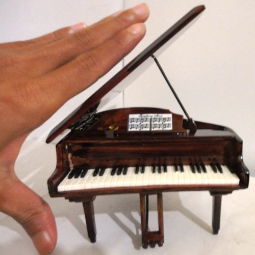 Miniatur Grand Piano Special Brown