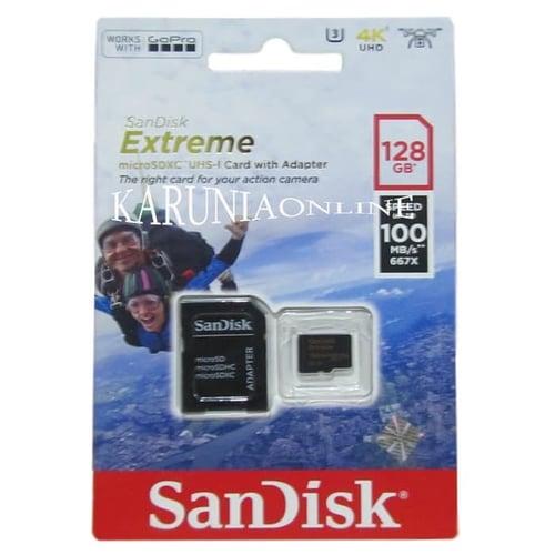 SANDISK MICROSDXC EXTREME 128GB UP TO 100MB/S