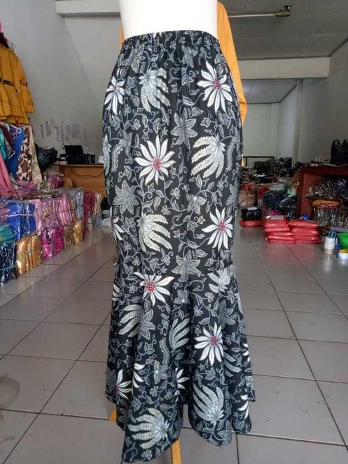 Rok Ruffle Abidah Rok Duyung Bawahan Batik Wanita All Size