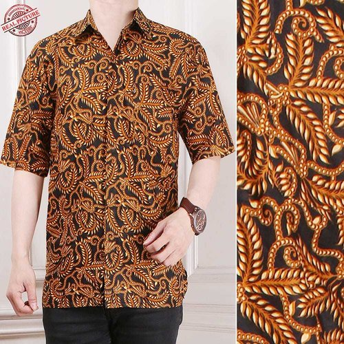 Atasan Kemeja Hady Lengan Pendek Casual Modern Batik Pria Tersedia Ukuran M-XL