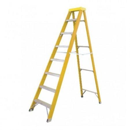 KRISBOW KW0103423 Step Ladder 1.6M Yellow Fiberglass type:KW0103424