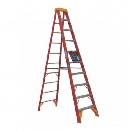 KRISBOW KW0102178 Step Ladder 10/3M Orange Fiberglass  type:KW0102179