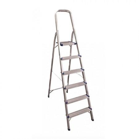 KRISBOW KW0102783 Step Ladder W/HDL 1.3M 6 Step Aluminium type:KW0102785