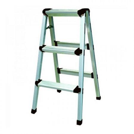KRISBOW KW0101837 Step Ladder W/O HDL 3 Step 0.8M Aluminium type:KW0101839
