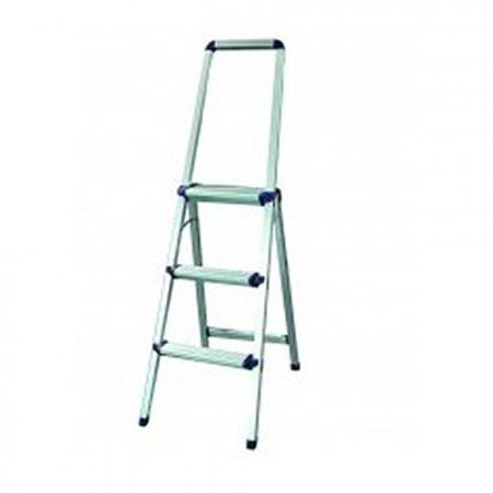 KRISBOW KW0101836 Aluminium Step Ladder with Handle 6 Steps