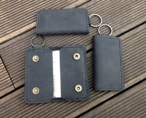 Dompet STNK Mobil dan Motor Kulit / Gantungan Kunci Kulit-Hitam
