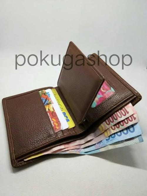 dompet kulit pria simpel/dompet kulit asli garut /dompet coklat
