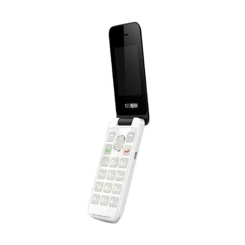 ALCATEL 2051 Flip Handphone - Pure White Dual SIM
