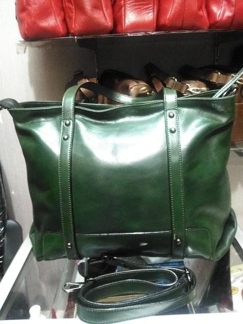 Tas kulit warna hijau , model zara, code AP. 6990 - Hijau
