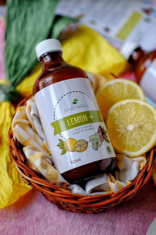 Dailywell Lemon+ with a hint of ginger and cinnamon