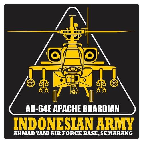 Indonesian Army AH-64E Guardian 1 Cutting Sticker