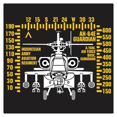 Indonesian Army AH-64E Guardian 4 Cutting Sticker