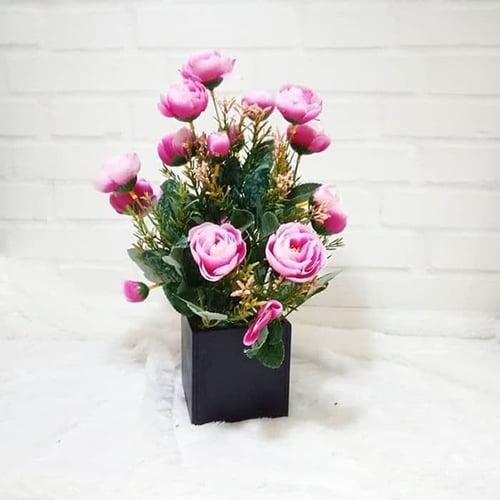 Baby Rose Artificial Flower Home Decor - Bunga Ros Palsu Hiasan Pajang