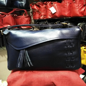 Tas kulit untuk wanita , asli garut model TELOLET. code AP. 3079 - Navy