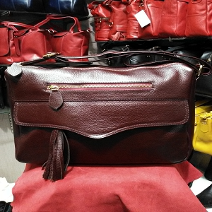 Tas kulit wanita , asli garut model KANOPI code AP. 3009 - Maroon