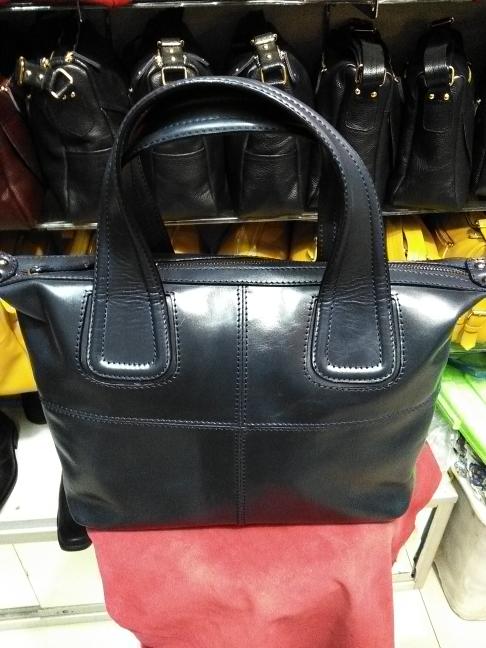 Tas kulit full up untuk wanita , model given asli garut. - Navy
