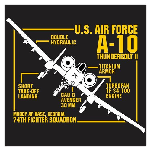 US Air Force A-10 Thunderbolt II Cutting Sticker