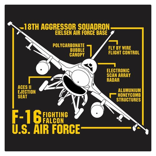 US Air Force F-16 Fighting Falcon Cutting Sticker