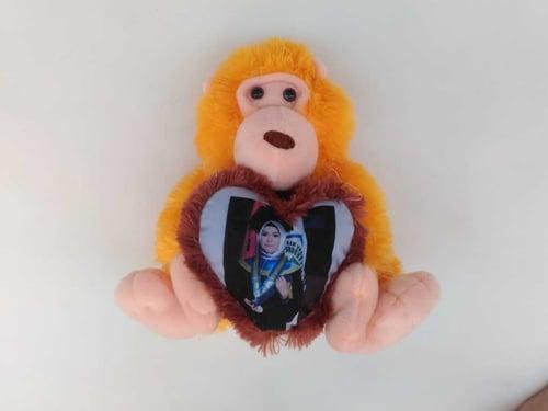 Boneka Monyet dan Bantal Love Cantik Termurah  Kado Ulang Tahun