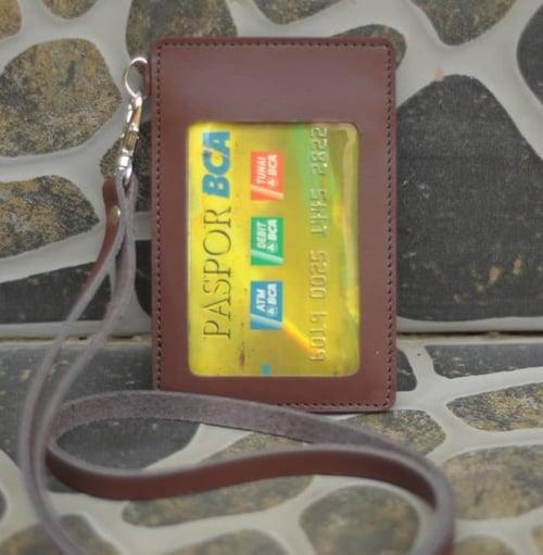 PROMO MURAH Tali ID Card/Tempat Kartu Nama/ID Card Holder Kulit CINK-16