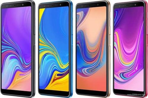 SAMSUNG Galaxy A7 2018 4/64GB Garansi Resmi - Gold/Black/Blue/Pink