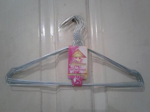 Gantungan Hanger Kawat Jemuran Baju Pakaian Murah 1 set isi 10 pcs