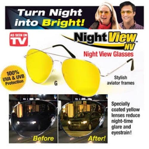 Night View Glasses Kacamata Malam Anti Silau - Kuning