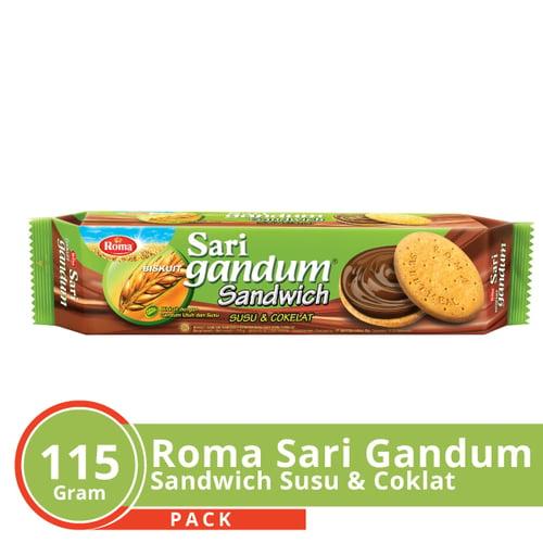 Roma Sari Gandum Coklat 115 Gr Karton