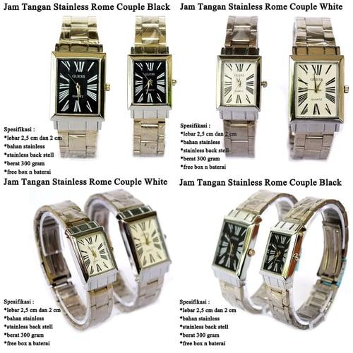 jam tangan Pasangan Stainless Silver  Rome