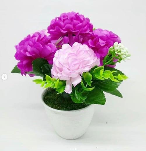 Pom Pom Artifical Flower - Ungu